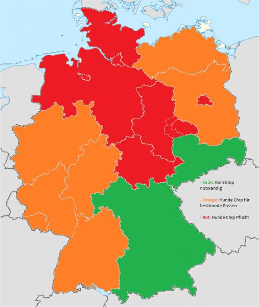 Deutschland Karte Hunde Chip