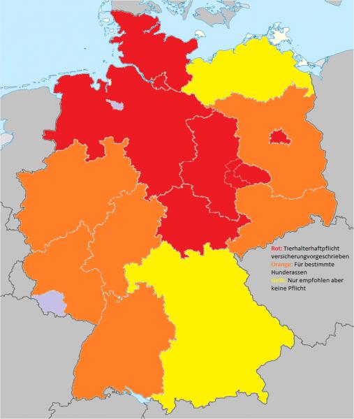 Deutschland Karte Tierhalterhaftpflicht